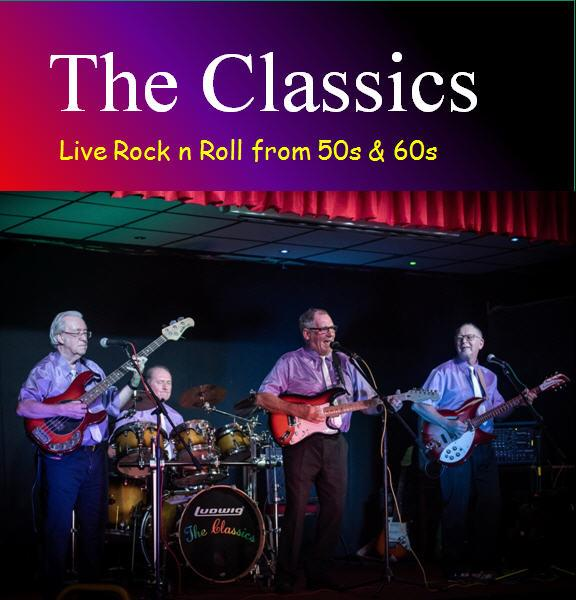The Classics Band, Stockport, 60s songs, functions, upcoming